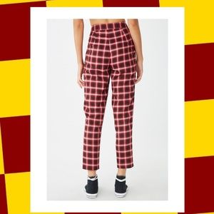 Elle Plaid High-waisted Trousers